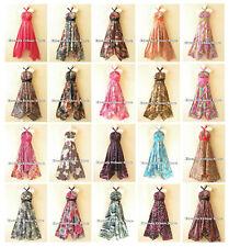 Versatile One Ring Strap Silk Multi Wear Scarf Women Maxi Dress Skirt, Maternity