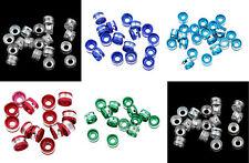 Lot 20 Perles Rondelle Aluminium 6mm Couleur au choix, Creation bijoux, bracelet