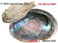 White Sage Californian Sage & Abalone Shell Combo Smudge Stick Kit, Shell, Sage