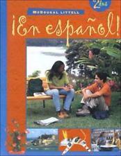 ¡En español!: Student Edition (hardcover) Level 2 2000 (Spanish Edition) MCDOUG