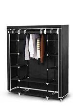Best For Home Faltschrank Stoffschrank Kleiderschrank 175x150x45 cm schwarz/grau