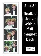 200 Magnetic Photo Booth Frames, 2x8 Full Magnet Back, white/black, free ship
