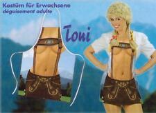 Bayern-Schürze Toni Lederhosen Kostüm Fasching Karneval Oktoberfest Grillschürze