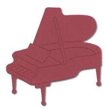 12 Die Cut Grand Piano 10x10cm Surtidos Colores concertista de música de creación de Tarjetas Artesanales