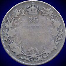 1927 Canada 25 Cent Silver Coin (5.83 Grams .800 Silver)