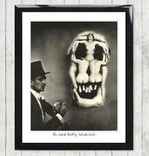 Impresión de arte enmarcado Cuerpo Desnudo Mujeres Calavera por Salvador Dali Poster Enmarcado 110