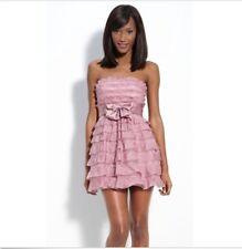NWT BCBG Max Azria pink strapless babydoll organza ruffled dress size 8 - $398
