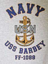 USS BARBEY   FF-1088 FRIGATE* U.S NAVY W/ ANCHOR* SHIRT