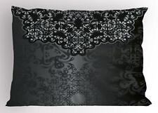 Dark Grey Pillow Sham Decorative Pillowcase 3 Sizes Bedroom Decor Ambesonne