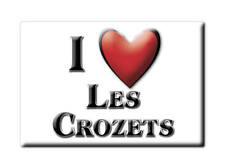 MAGNETS FRANCE - HAUTE NORMANDIE SOUVENIR AIMANT I LOVE LES CROZETS  (JURA)