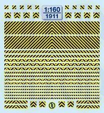 1911 - Decals Warnstreifen Schwarz/Gelb 1:160
