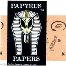 6 PACKS PAPYRUS 1.5 SZE IMPRINTED HEMP CIGARETTE ROLLING PAPERS EGYPT, UFO, ETC