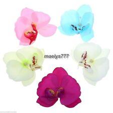 5 orchidée 11cm fleur artificielle couleur au choix.décoration mariage,baptême.