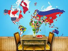 Papel Pintado Mural De Vellón Banderas Países Mundo 16 Paisaje Fondo De Pantalla