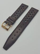 """Bracelets vintages """"Corfam"""" perforés Rallye strap (pour Heuer, Rolex, Omega,...)"""