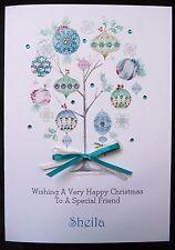 Personalised Handmade A5 Christmas Card -   Stunning Christmas Tree (x520)