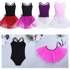 Child Girls Gymnastics Leotard Dress Ballet Dance Tutu Skirt Ballerina Unitard