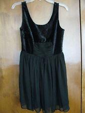 Free People women black detailed velour/mesh lined fancy NWT dress 2,8,12