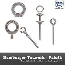 Edelstahl Ringmutter DIN 582 / Ringschraube DIN 580 / Ösenschraube / Augschraube