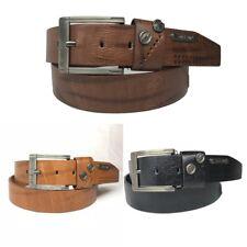 "New Mens Jeans 1.5"" Stylish Design Leather Belt J276"