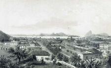 "PANORAMIC CANVAS or PAPER ""Rio de JANEIRO"" of old BENOIST & CICERI engraving"
