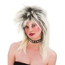 80s Rocker Wig Fancy Dress Accessory for 80s Disco Pop Retro Cosplay