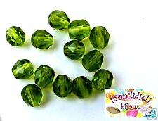 BIGIOTTERIA PERLINE- 20 mezzi cristalli 6mm - verde