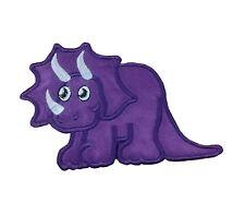 1 x D02 Sew 'n' Iron On Patch Motif Cartoon Triceratops Dinosaur