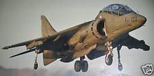 T-10 Harrier BAE James Bond Airplane Desk Wood Model Big New