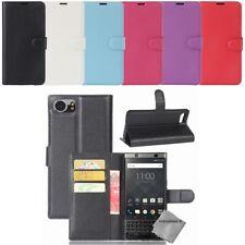 Housse etui coque pochette portefeuille pour Blackberry Keyone + film ecran
