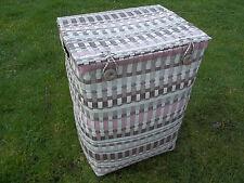 Wäschetonne, Wäschekorb, Kunststoffgeflecht, 2 Größen wählbar