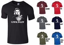Michael Myers asesino Cereal Halloween Novedad Camiseta-Scary espeluznante Divertido Broma