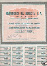 Metalurgica Noroeste SA  (Spain) Share certificate1965