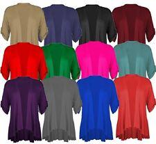 New Womens Plus Size Kimono Waterfall Jumbo Cardigan 16-26