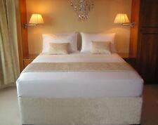 Elasticated Bed Valance Divan Base cover Bed wrap CRUSHED VELVET.