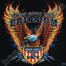 T-Shirt #542 EAGLE THANK A VET, FREEDOM Biker CHOPPER, Route 66 Dragrace USA