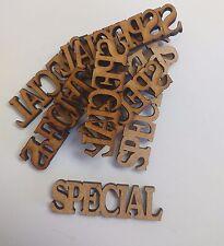 wooden craft SPECIAL shapes, laser cut 3mm mdf embellishments
