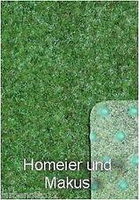 Rasenteppich Kunstrasen Grün mit Noppen, 133 cm Breite in 20 Größen (Farbe 24)