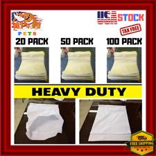 "New listing 100 Sand Bags White Empty Sandbags Grain Heavy Duty Shipping Packing 17.5"" x 23"""