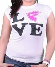 Famous Stras & Straps Womens White FSAS Love Crew T-Shirt