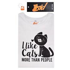 Cat Lover Gift Black Sparkly Glitter Ladies Women's White T Shirt