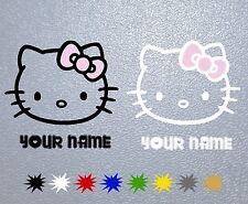 STICKER Hello Kitty Personalized PEGATINA DECAL VINYL AUTOCOLLANT AUFKLEBER