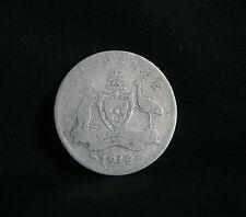 1916 Sixpence Australia Rare Silver World Coin KM25  6 Pence