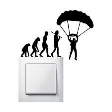Evolution Fallschirmspringer Aufkleber Wandtattoo