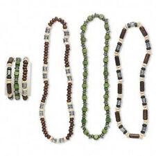 Bracelet Necklace Set Littleleaf Boxwood Sustainable Wood Bead 6 Piece Set
