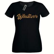 Leopard Print Whatever Tshirt, Ladies Fitted Tshirt, Womens T Shirt