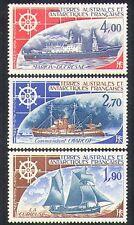 FSAT/TAAF 1976 Ships/Plane/Nautical/Sailing/sail/Boats/Transport 3v set (n23489)