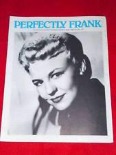 SINATRA - PERFECTLY FRANK #197  June 1986