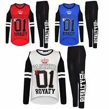 Enfants Filles Fashion Nº 01 Royalty Print Fashion T Shirt Top Legging Lot 7-13 ans