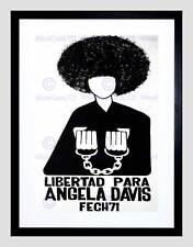 POLITICAL ANGELA DAVIS CIVIL RIGHTS BLACK PANTHER CHILE FRAMED PRINT B12X4529